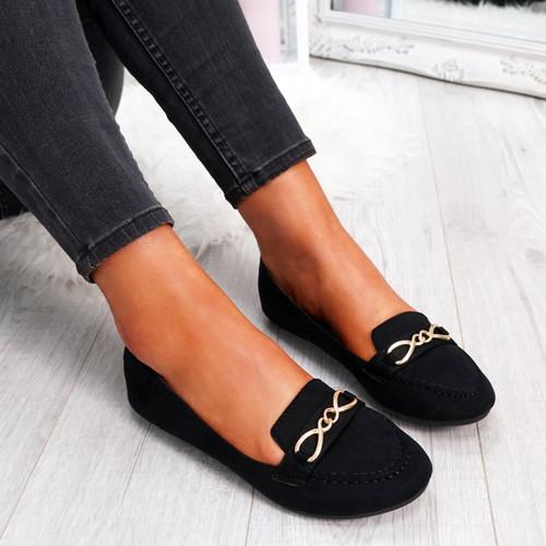 Rexxa Black Flat Ballerinas