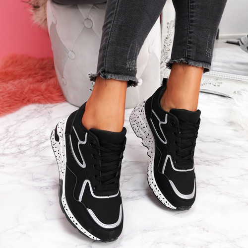 Hyde Black Chunky Trainers
