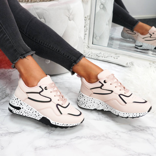 Hyde Pink Chunky Trainers