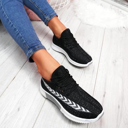 Benne Black Running Trainers