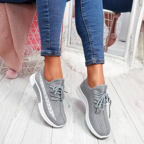 Benne Grey Running Trainers