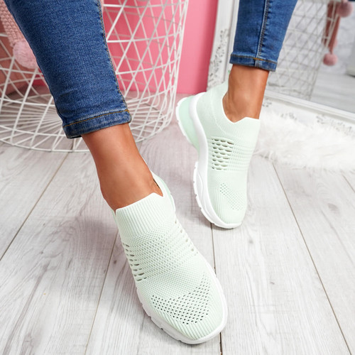 womens ladies slip on party sport casual trainers sneakers party shoes size uk 3 4 5 6 7 8