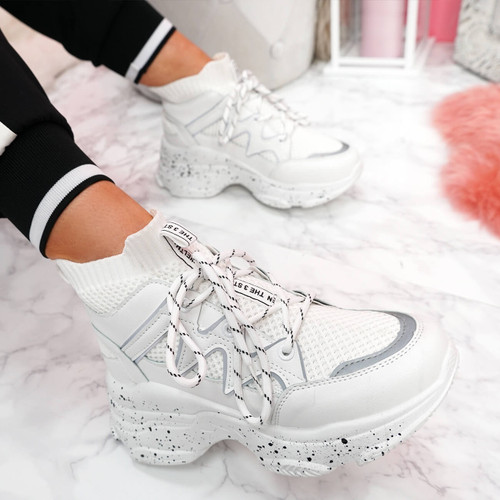 Picco White Sock Chunky Sneakers