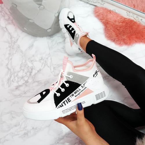 Yoppi White Chunky Sneakers