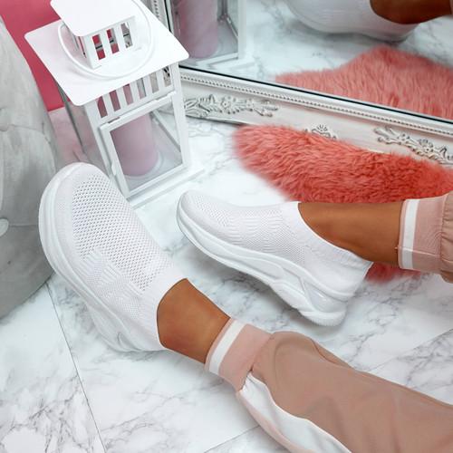 Jeffy White Mesh Sneakers