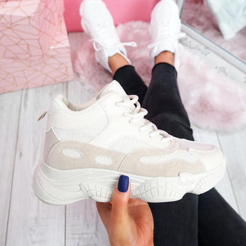 womens ladies high top chunky sport trainers sneakers party women shoes size uk 3 4 5 6 7 8
