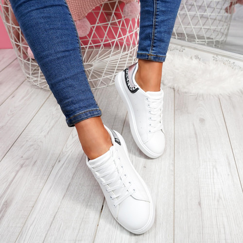 Menika Silver Lace Up Trainers