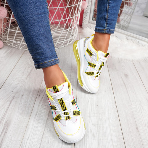 womens ladies lace up chunky sole sneakers party trainers sneakers women shoes size uk 3 4 5 6 7 8