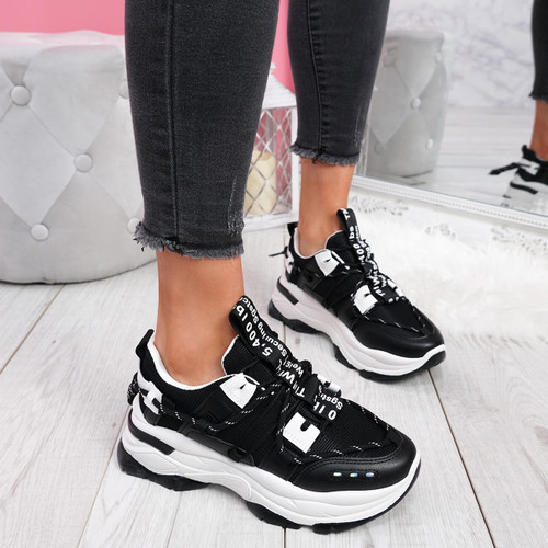 Opye Black Chunky Sneakers