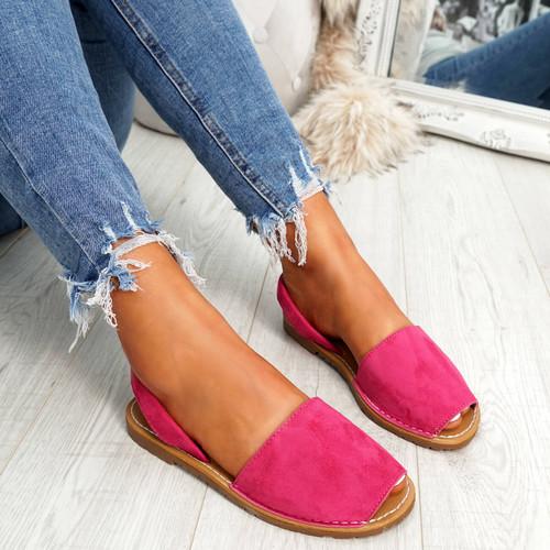 Giffy Fuchsia Slingback Sandals