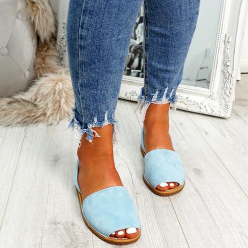 Giffy Light Blue Slingback Sandals