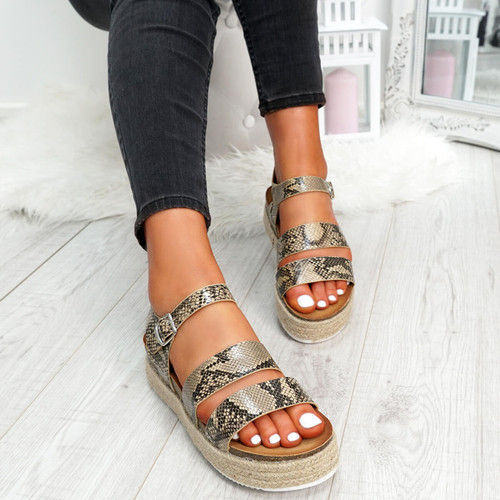 womens ladies platform peep toe ankle strap sandals casual party shoes size uk 3 4 5 6 7 8