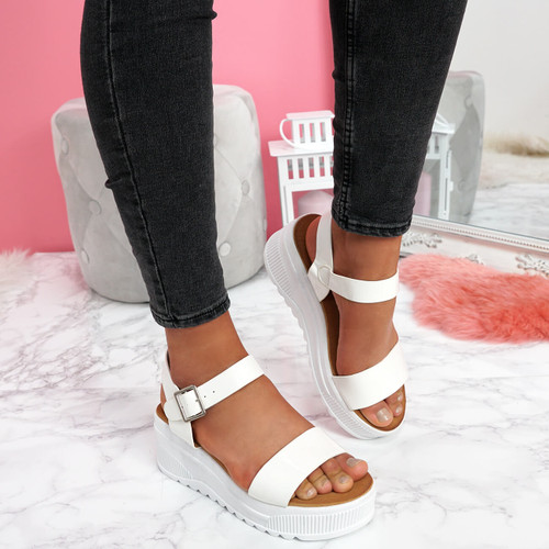 womens ladies platform wedge sandals party ankle strap summer women shoes size uk 3 4 5 6 7 8