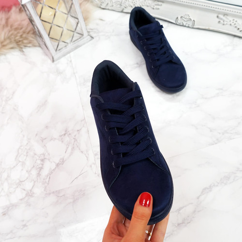 womens ladies lace up faux suede plimsolls casual comfy party uk women shoes size uk 3 4 5 6 7 8