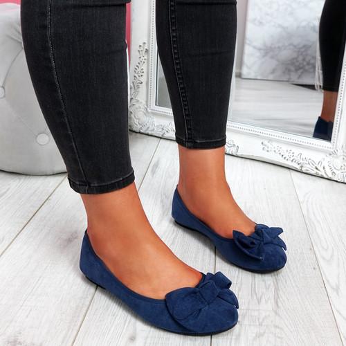Sorra Jeans Bow Ballerinas