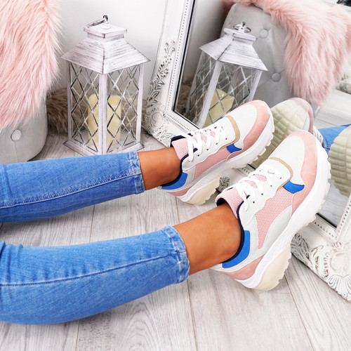 Fezy Pink Chunky Trainers