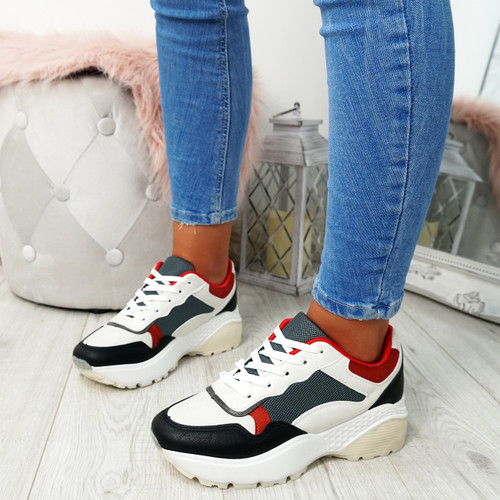 Fezy Red Chunky Trainers