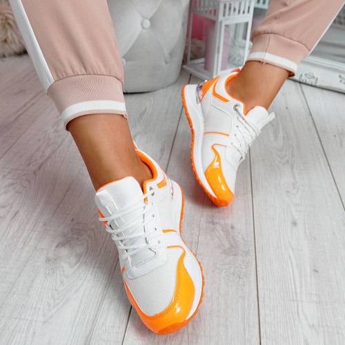 Seffa Orange Chunky Trainers