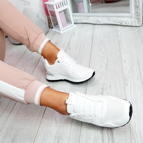 Seffa White Chunky Trainers