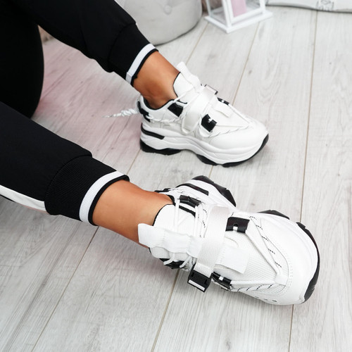 Benny White Chunky Sole Trainers