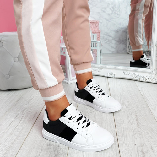 Solly White Black Trainers