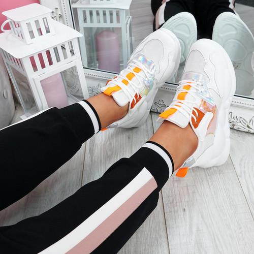 Sima Orange Chunky Sneakers