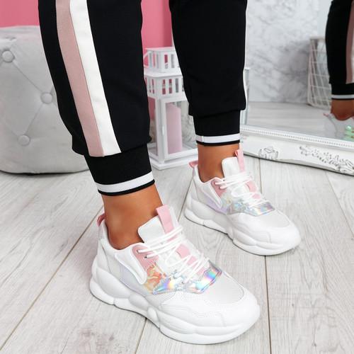 Sima Pink Chunky Sneakers