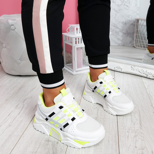 Jirra Green Chunky Trainers