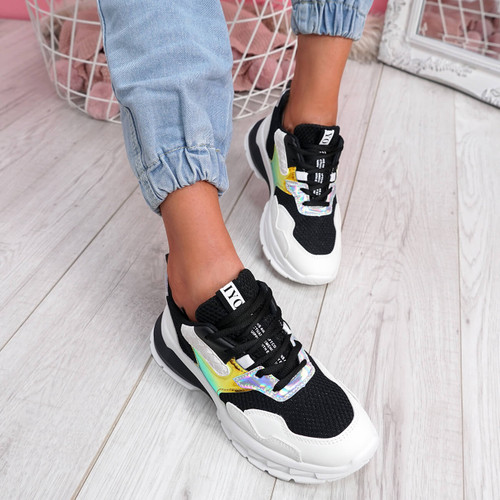 Frimma Black Chunky Trainers