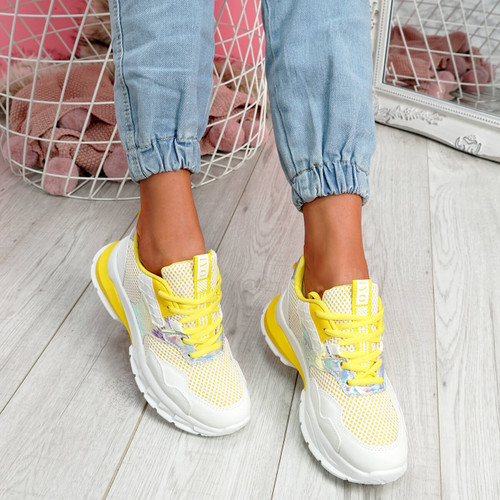 Frimma Yellow Chunky Trainers