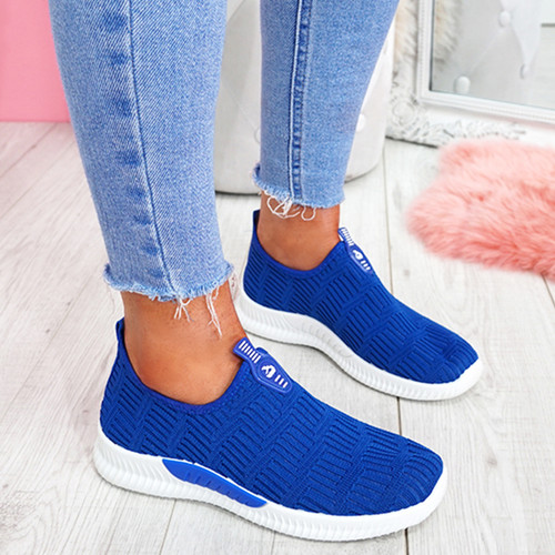 Hegy Navy Slip On Trainers