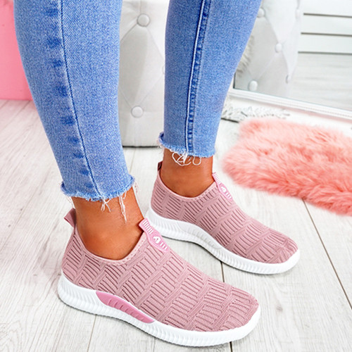 Hegy Pink Slip On Trainers