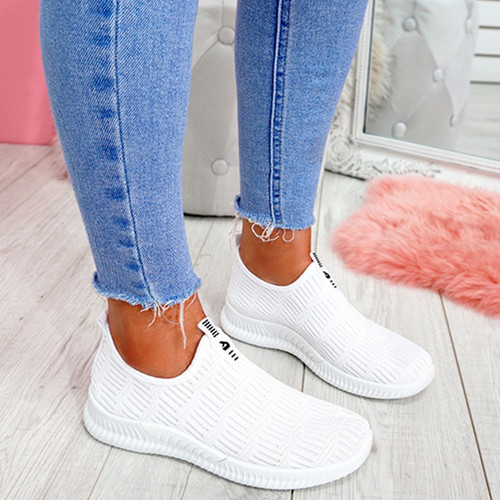 Hegy White Slip On Trainers