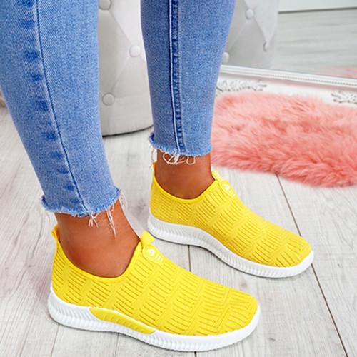 Hegy Yellow Slip On Trainers