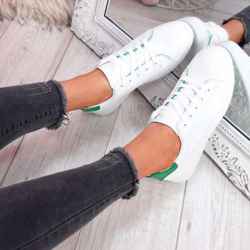Miry Green Lace Up Trainers
