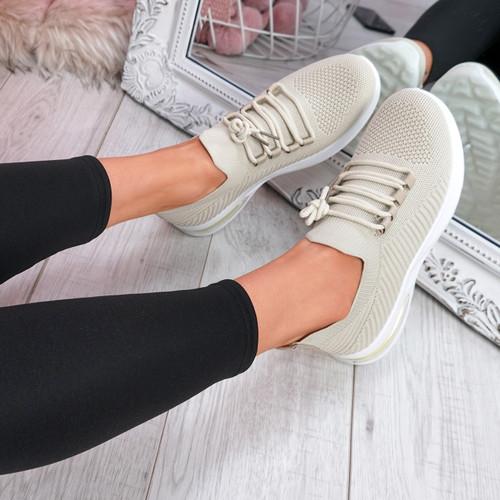 Gummy Beige Sport Sneakers