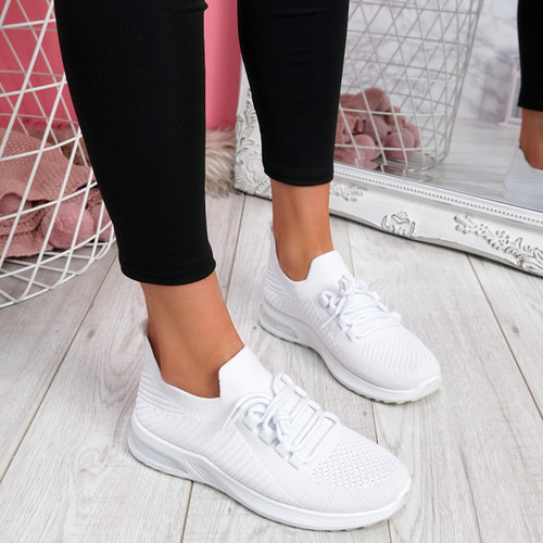 Gummy White Sport Sneakers