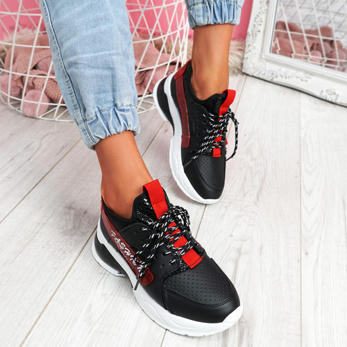Jolle Black Chunky Sneakers