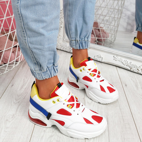 Wenny Red Chunky Sneakers