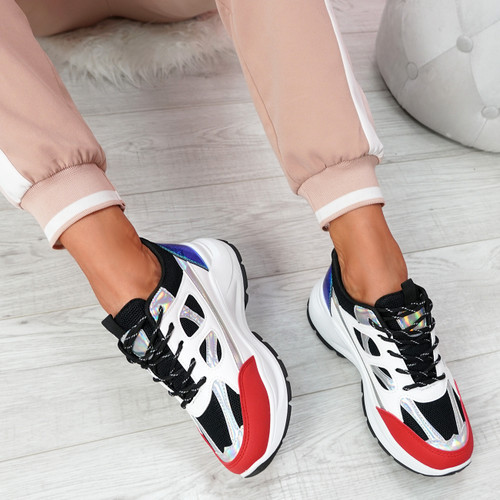 Fiffe Black Lace Up Chunky Sneakers