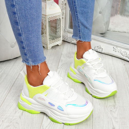Kalle Green Chunky Trainers