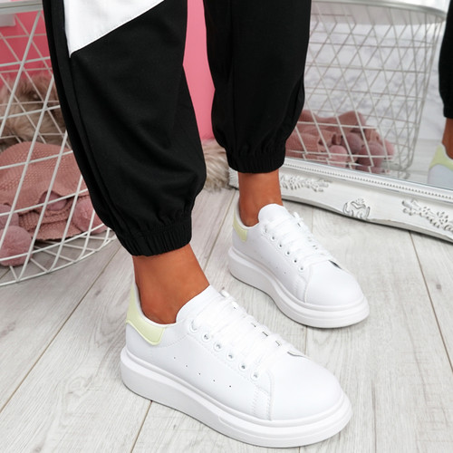 Epy Yellow Flatform Trainers