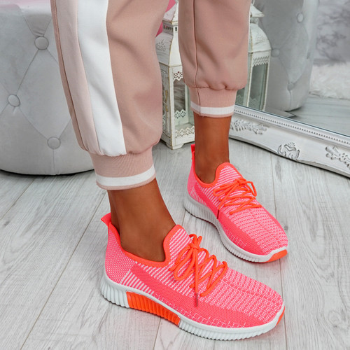 Tenny Fuchsia Lace Up Trainers