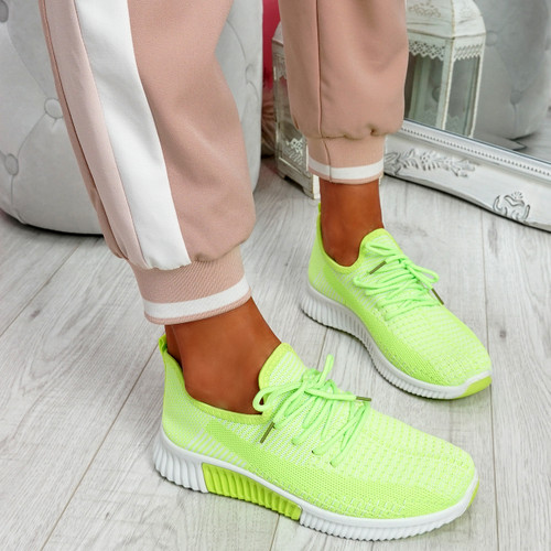 Tenny Green Lace Up Trainers