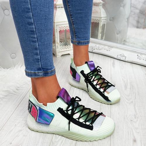 Ovo Green Sock Sneakers