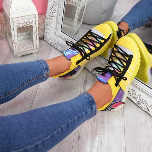 Ovo Yellow Sock Sneakers