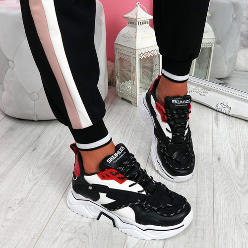 Elya Black Chunky Sneakers