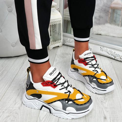 Elya Yellow Chunky Sneakers