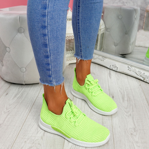 Yppo Green Knit Trainers