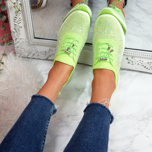 Hezzo Green Studded Trainers
